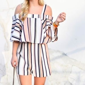 NWT - AS IS TopShop Striped Romper - 12